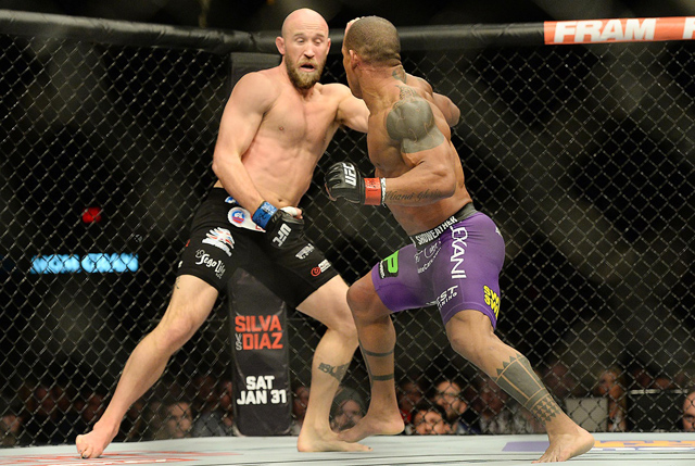 Josh Burkman and Hector Lombard