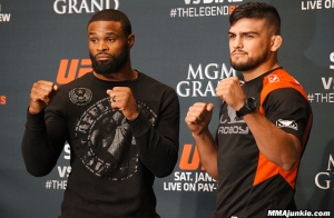 Tyron Woodley and Kelvin Gastelum