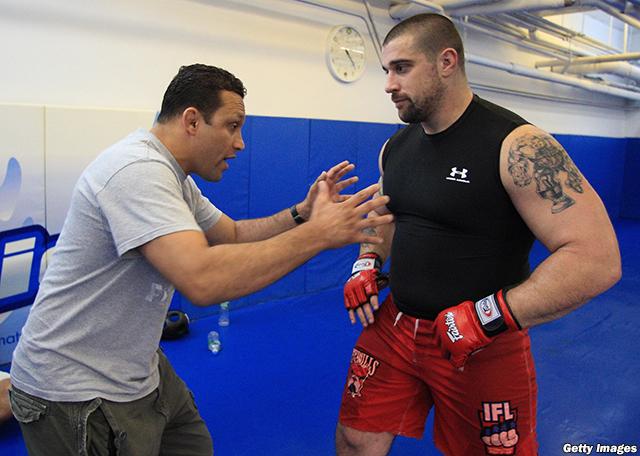 Renzo Gracie with Bryan Vetell