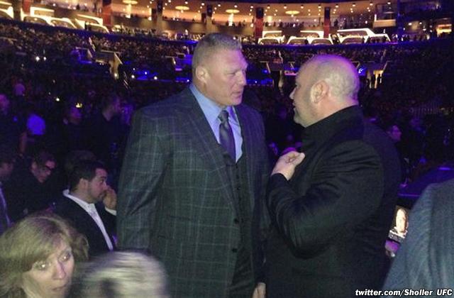 Brock Lesnar and Dana White