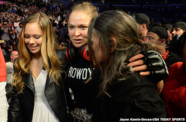 Ronda Rousey and family