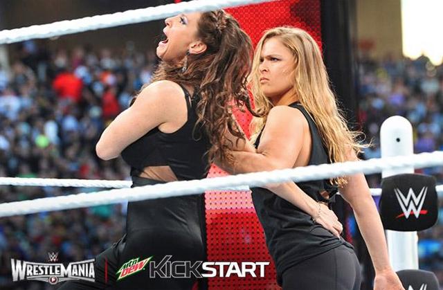 Stephanie McMahon and Ronda Rousey