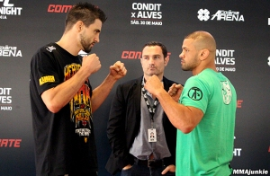 Carlos Condit and Thiago Alves