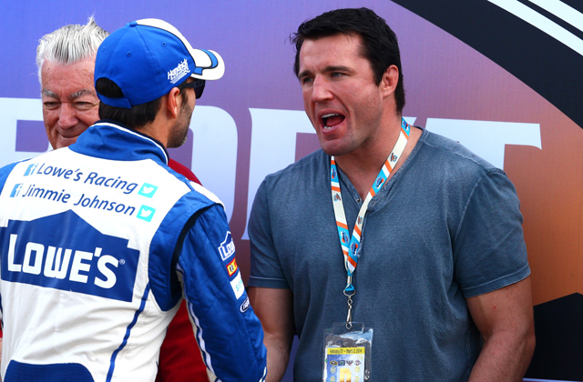 NASCAR driver Jimmie Johnson and Chael Sonnen