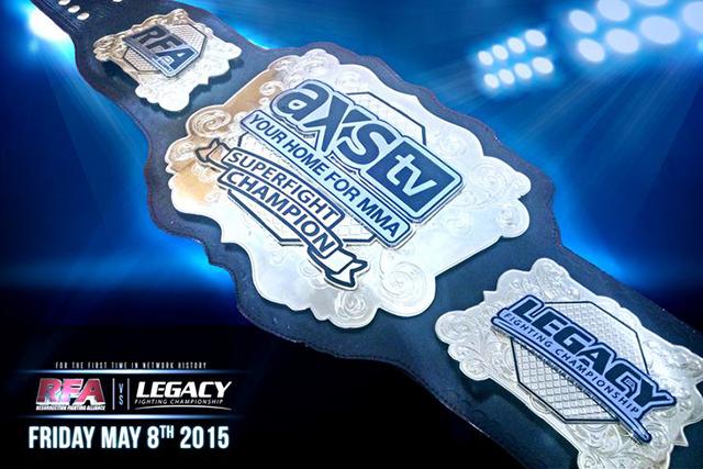 AXS TV Superfight title belt