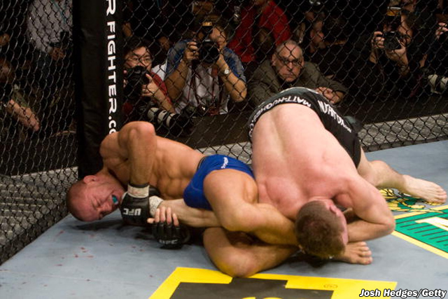 Georges St-Pierre and Matt Hughes