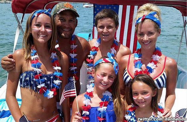 Dan Henderson and family