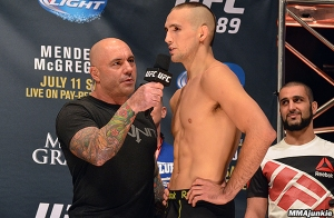 Joe Rogan and Rory MacDonald