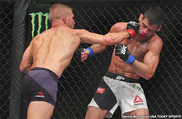 T.J. Dillashaw and Renan Barao