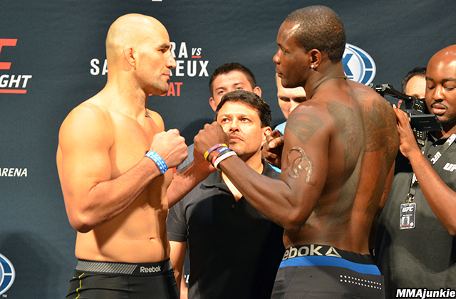 Glover Teixeira and Ovince Saint Preux