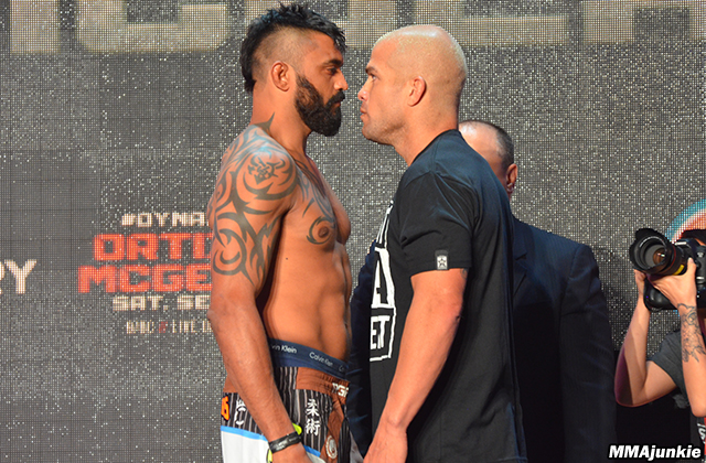 Liam McGeary and Tito Ortiz