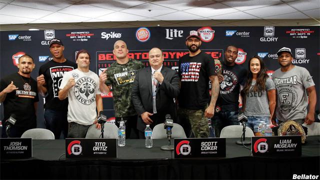 Scott Coker and Bellator 142 fighters