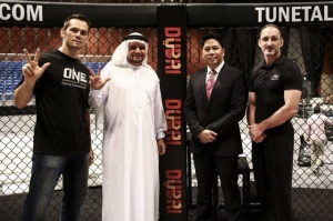 ONE Championship execs (Matt Hume on right)