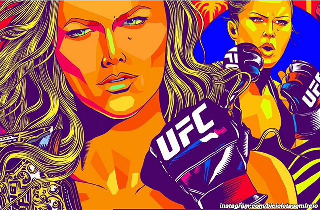 Portion of Ronda Rousey's new mural in Venice Beach, Calif.