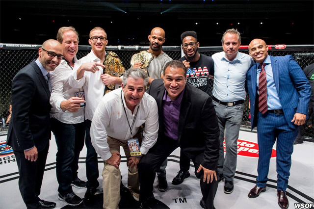WSOF executives and fighters