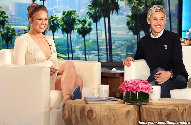 Ronda Rousey and Ellen DeGeneres