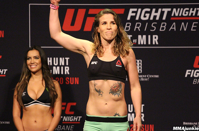 Leslie Smith at UFC Fight Night 85