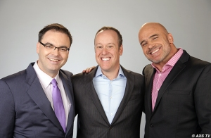 Mauro Ranallo, Andrew Simon and Bas Rutten