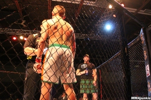 Conall and Matt Powers in the cage
