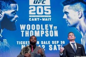 Tyron Woodley and Stephen Thompson
