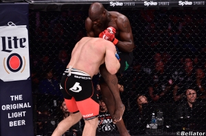 Cheick Kongo and Oli Thompson