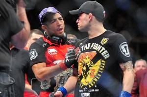 Jose Aldo and Frankie Edgar at UFC 156