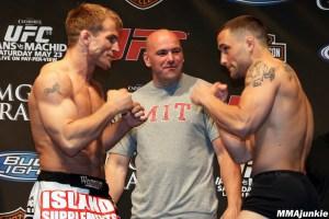 Sean Sherk and Frankie Edgar prior to UFC 98