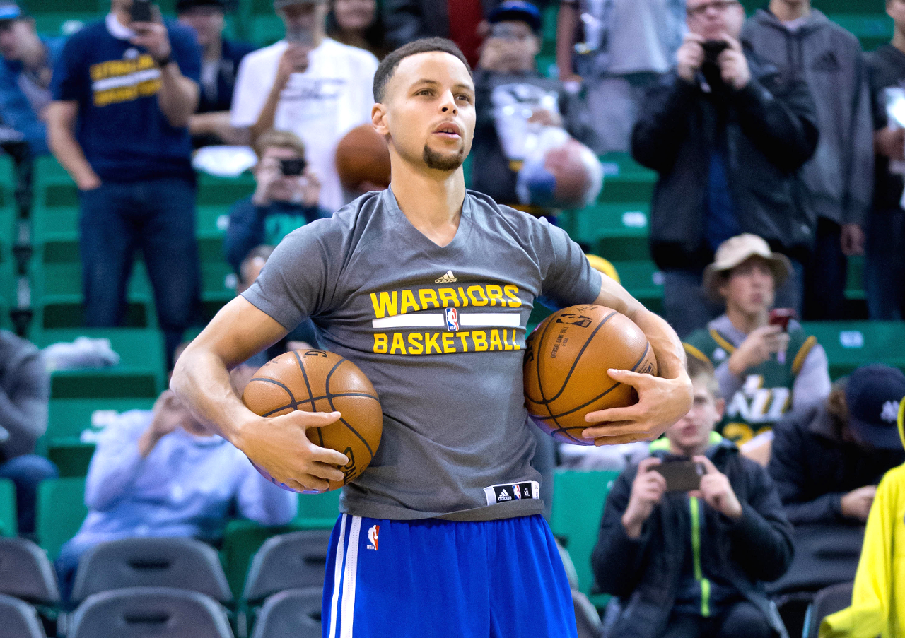 steph curry practice