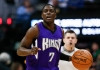 Feb 23, 2016; Denver, CO, USA; Sacramento Kings guard Darren Collison (7) dribbles the ball up court in the fourth quarter against the Denver Nuggets at the Pepsi Center. Mandatory Credit: Isaiah J. Downing-USA TODAY Sports
