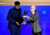 Adam Silver delivers MVP award to Giannis Antetokounmpo