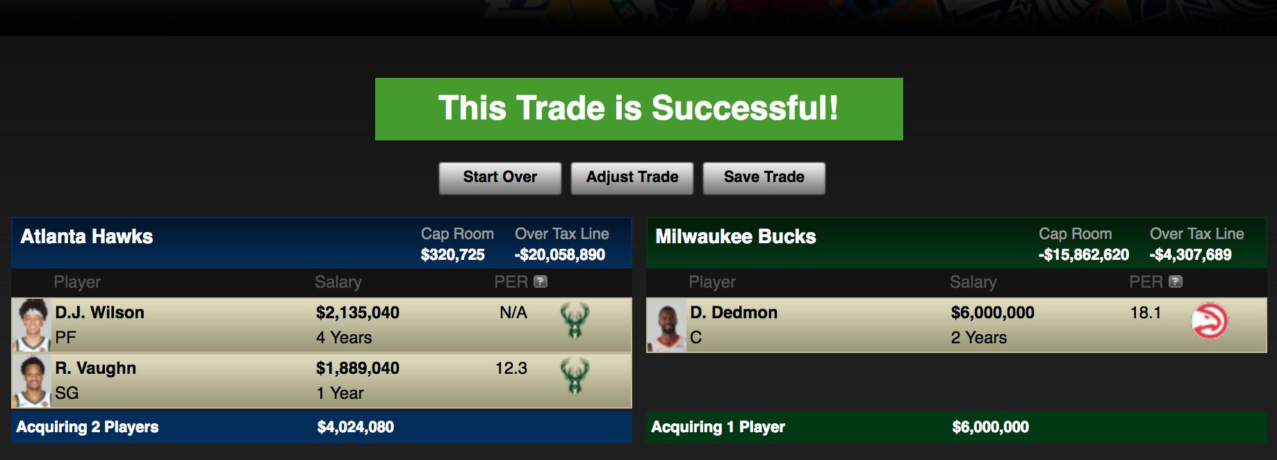 (via ESPN Trade Machine)