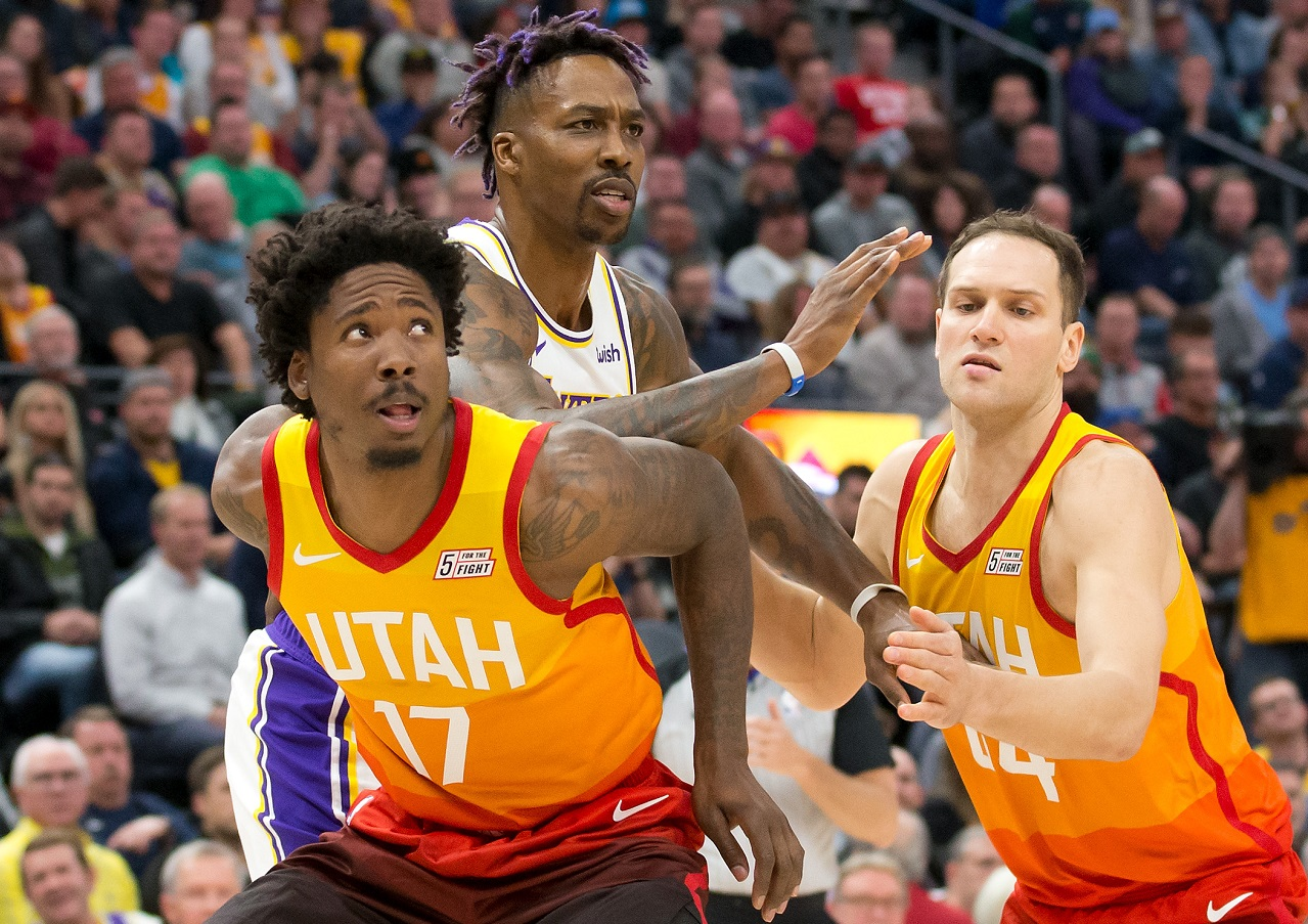 Ed Davis Dwight Howard NBA Jazz Lakers