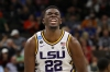 JACKSONVILLE, FLORIDA - MARCH 23: Darius Days #22 of the LSU Tigers reacts against the LSU Tigers during the first half of the game in the second round of the 2019 NCAA Men's Basketball Tournament at Vystar Memorial Arena on March 23, 2019 in Jacksonville, Florida.