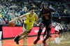 Feb 16, 2020; Eugene, Oregon, USA; Oregon Ducks guard Will Richardson (0) dribbles the ball as Utah Utes guard Both Gach (11) defends during the first half at Matthew Knight Arena.