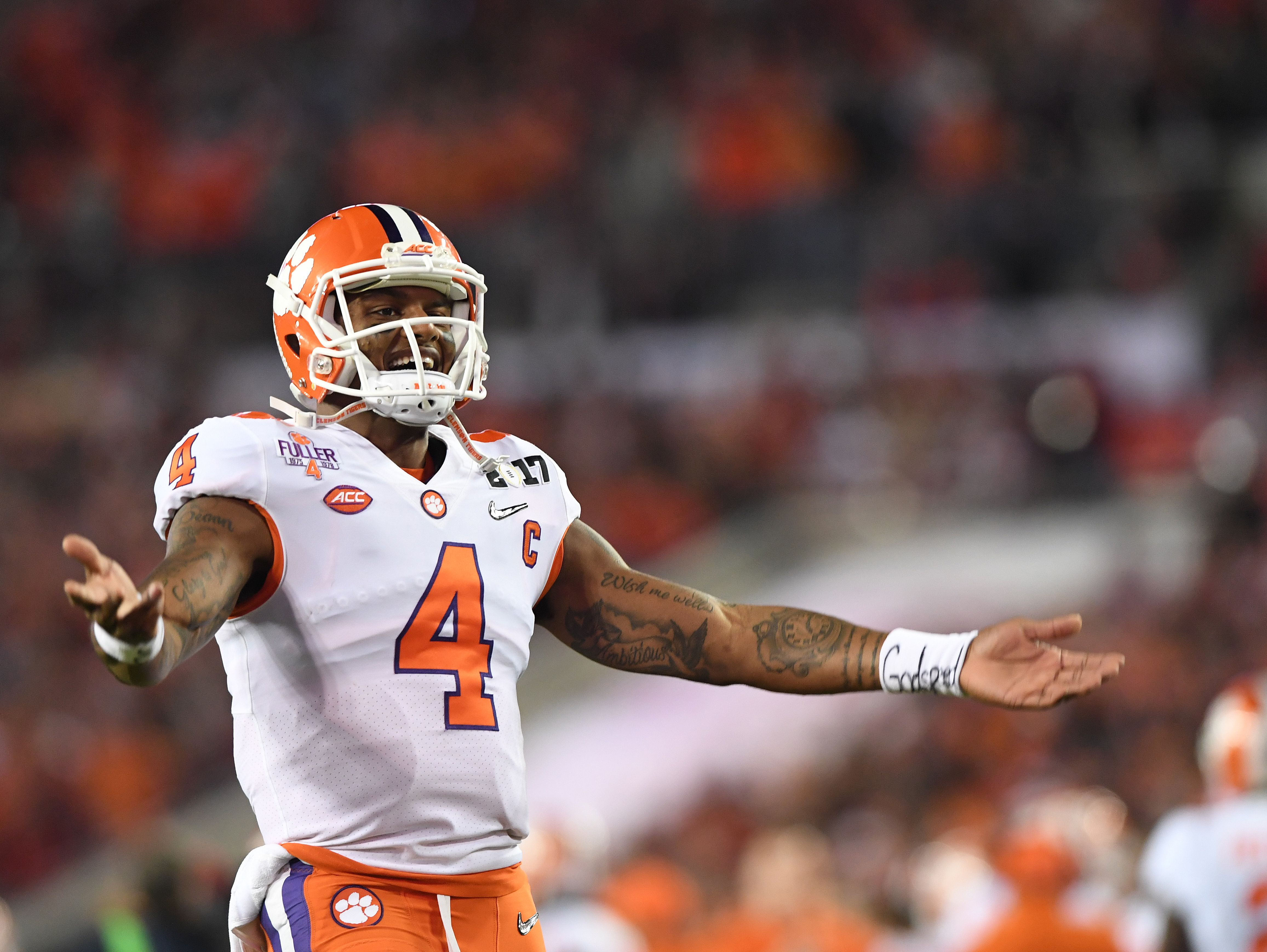 Clemson QB Deshaun Watson goes out with a bang | USA TODAY ...