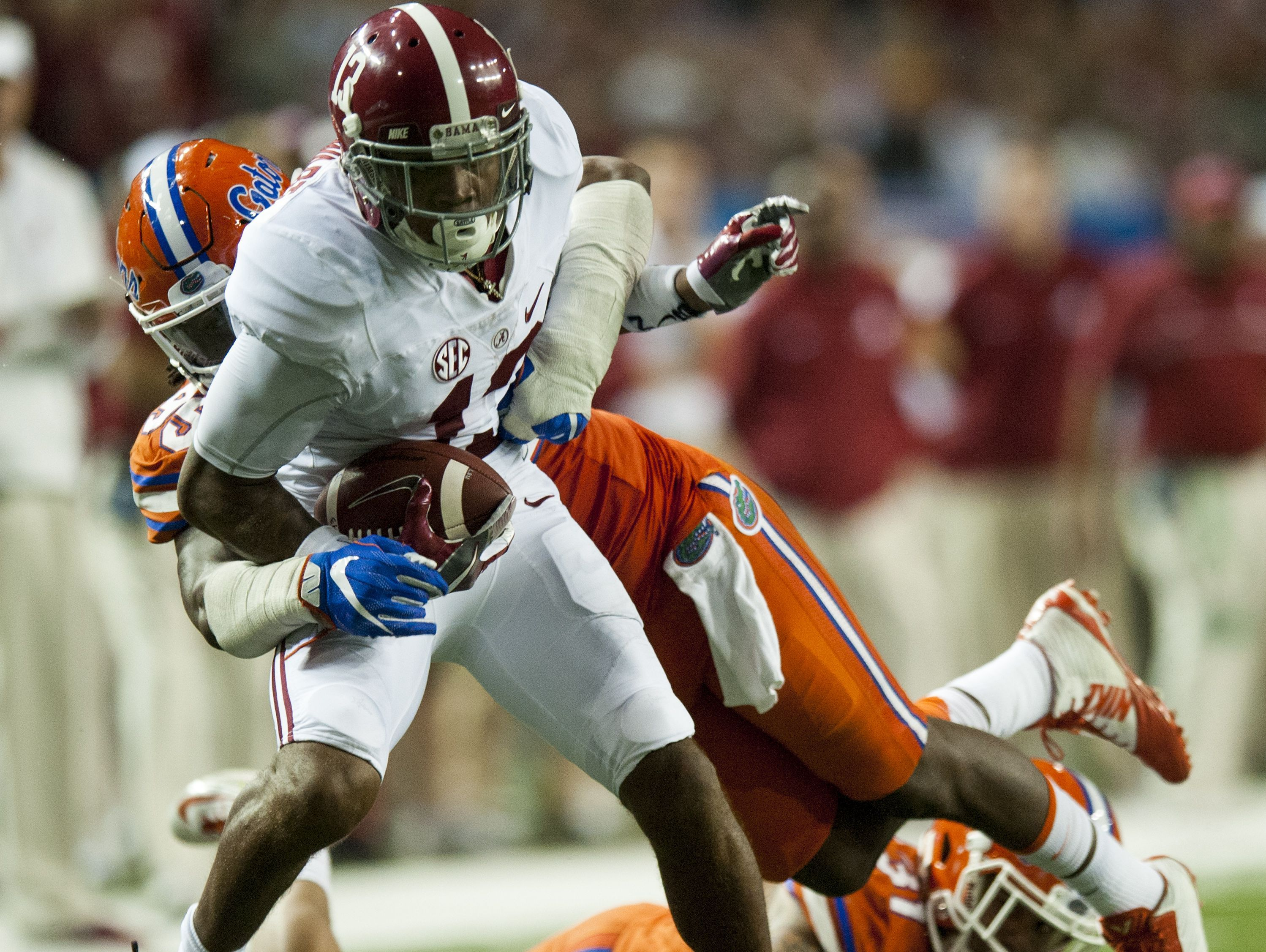 ArDarius Stewart (13) led Alabama in receiving yards (864) and receiving touchdowns (7) in the 2016 season.