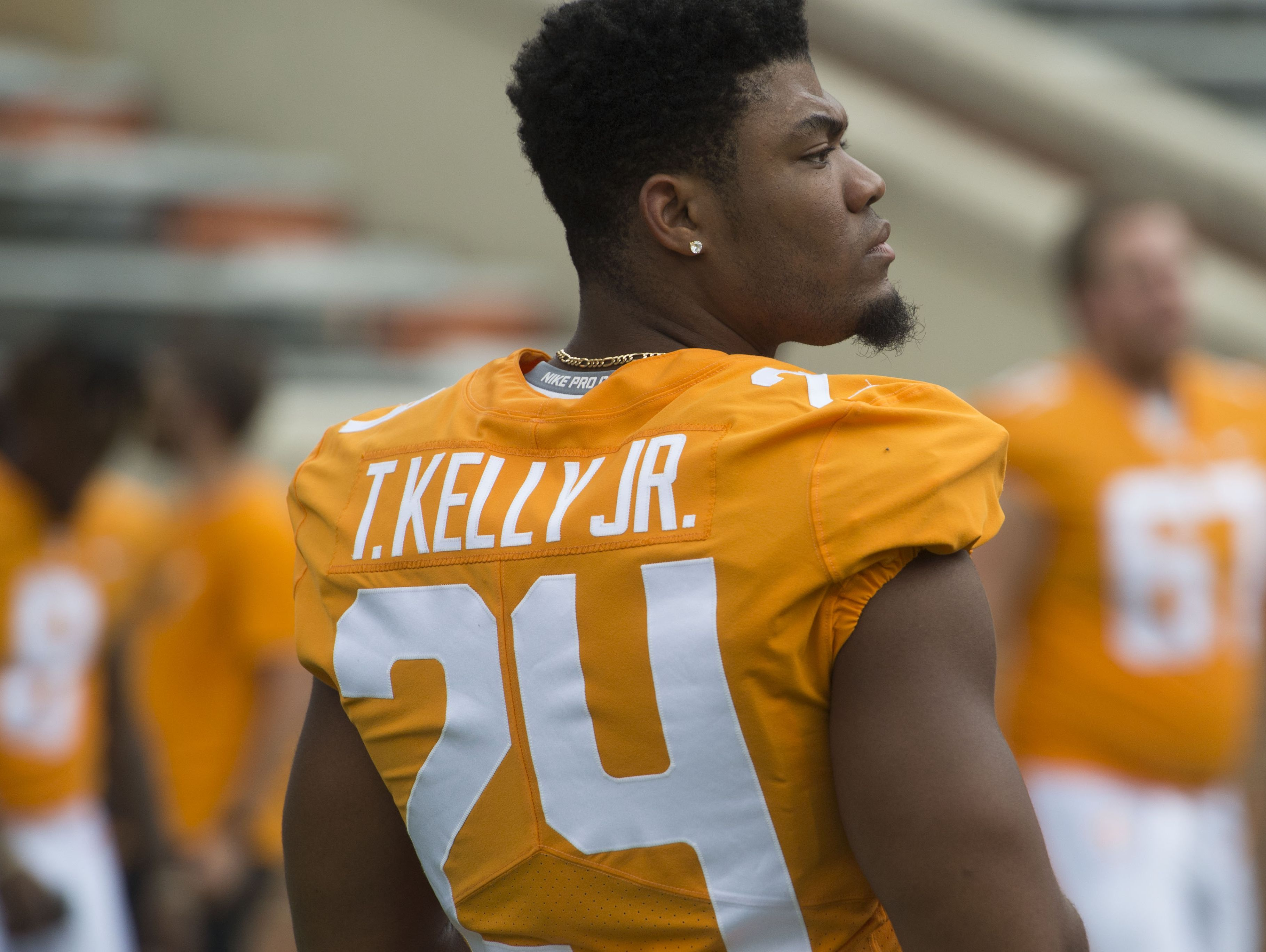 Tennessee defensive back Todd Kelly Jr. (24) at Media Day.