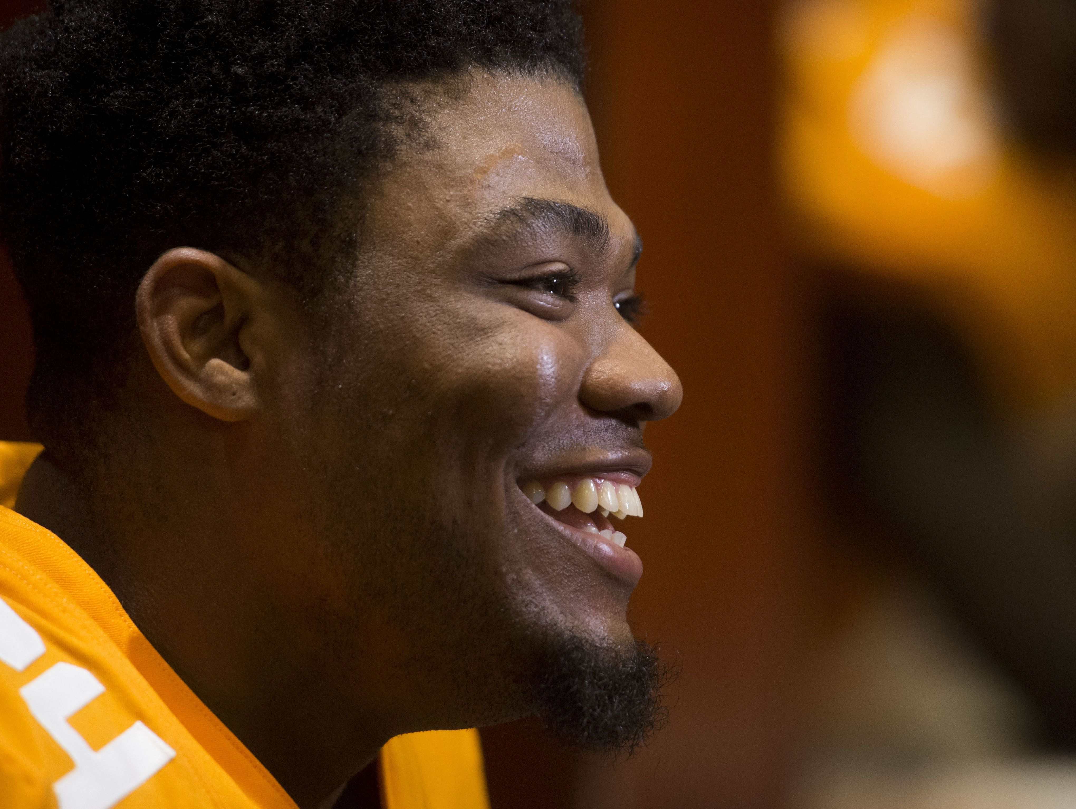 Tennessee defensive back Todd Kelly Jr. at Media Day.