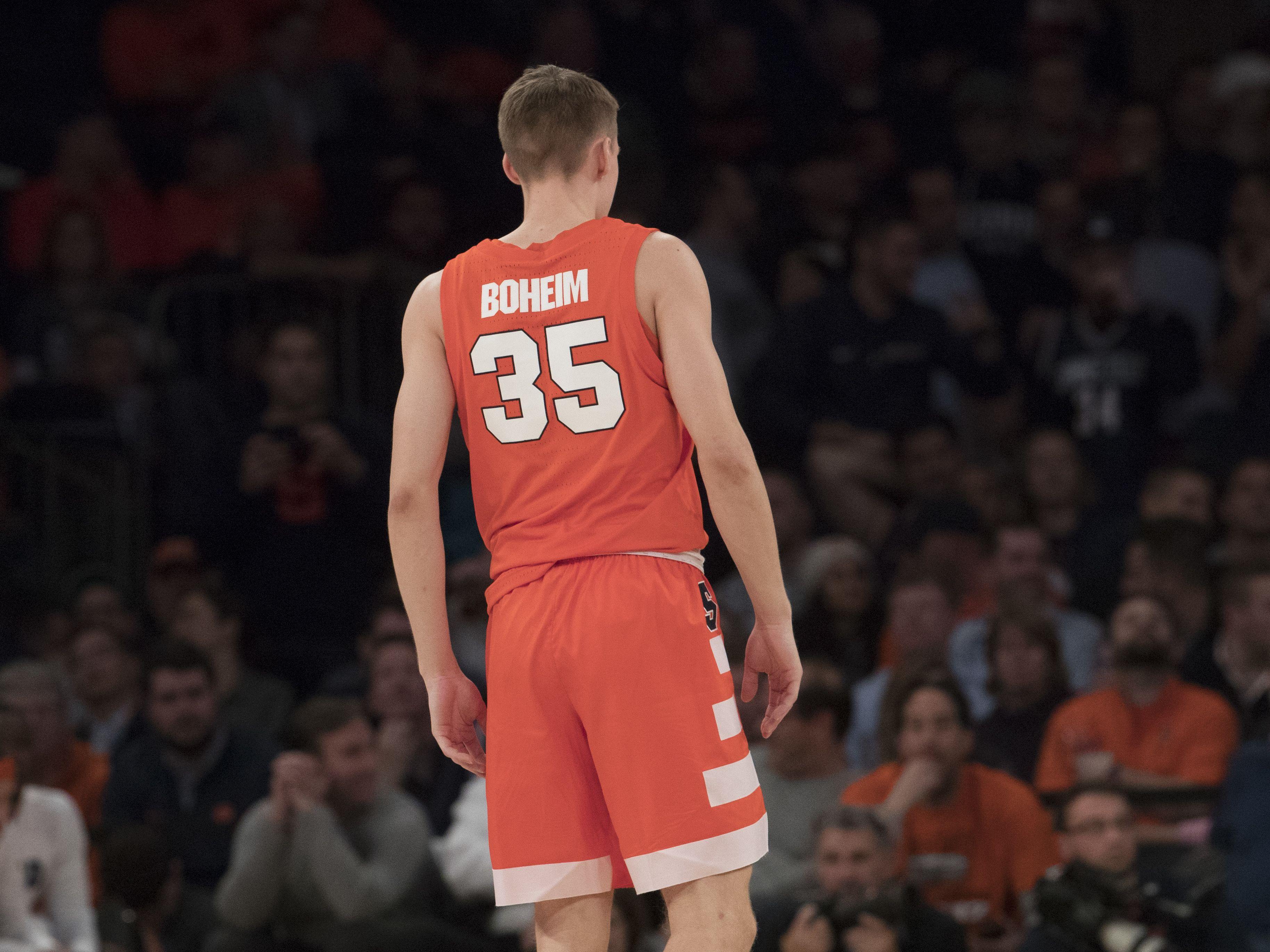 Buddy Boeheim Name Misspelled On Syracuse Jersey Usa Today Sports