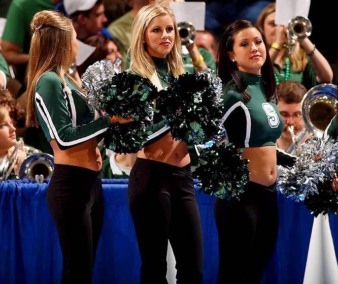Michigan State cheerleader