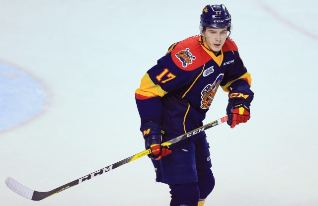 ST CATHARINES, ON - OCTOBER 6: Taylor Raddysh #17 of the Erie Otters skates during an OHL game against the Niagara IceDogs at the Meridian Centre on October 6, 2016 in St Catharines, Ontario, Canada. (Photo by Vaughn Ridley/Getty Images)