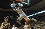 EUGENE, OR - NOVEMBER 11: Jordan Bell #1 of the Oregon Ducks dunks the ball in the first half of the game against the Army Black Knights at Matthew Knight Arena on November 11, 2016 in Eugene, Oregon. (Photo by Steve Dykes/Getty Images)