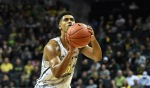 EUGENE, OR - NOVEMBER 11: Tyler Dorsey #5 of the Oregon Ducks shoots free throws in the first half of the game against the Army Black Knights at Matthew Knight Arena on November 11, 2016 in Eugene, Oregon. (Photo by Steve Dykes/Getty Images)