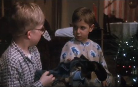 Image result for ralphie and randy open socks