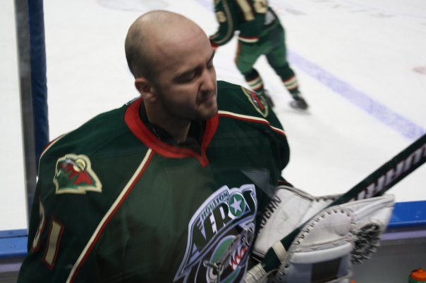 Wade Dubielewicz with the Houston Aeros (AHL) in February of 2010.