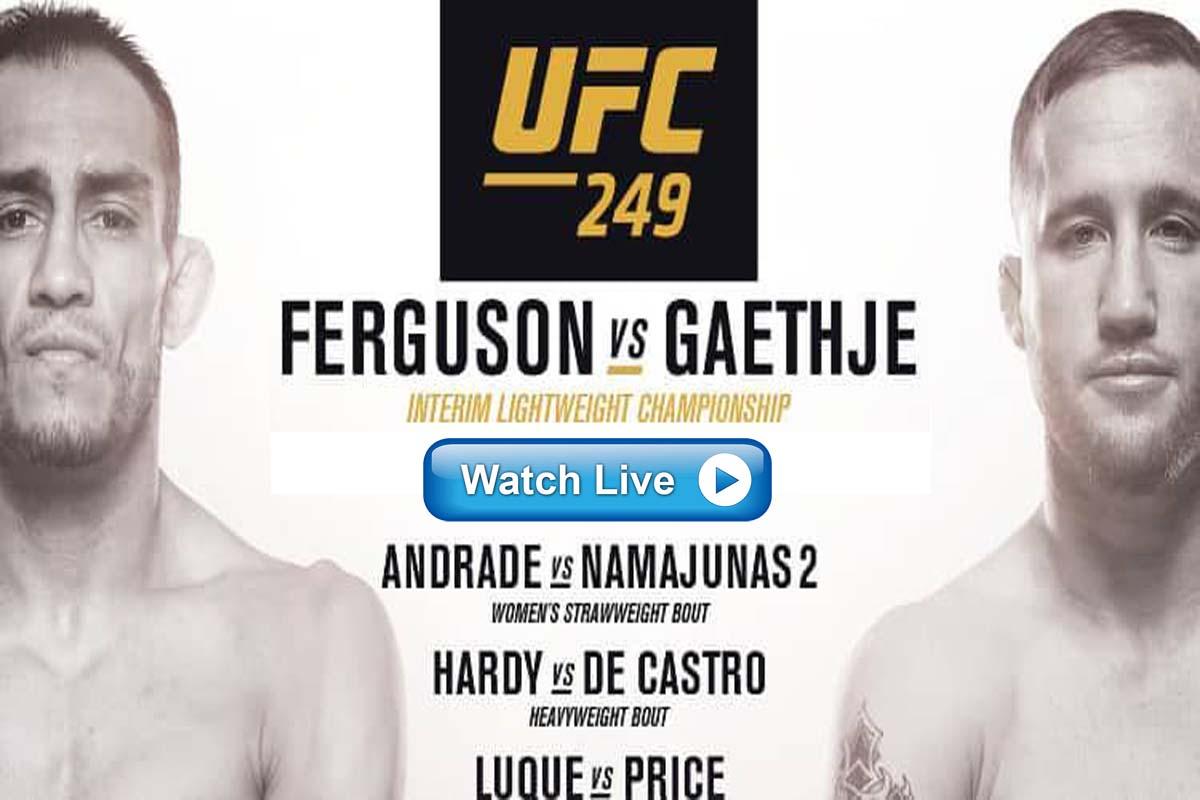 UFC 249 Live Streaming Reddit