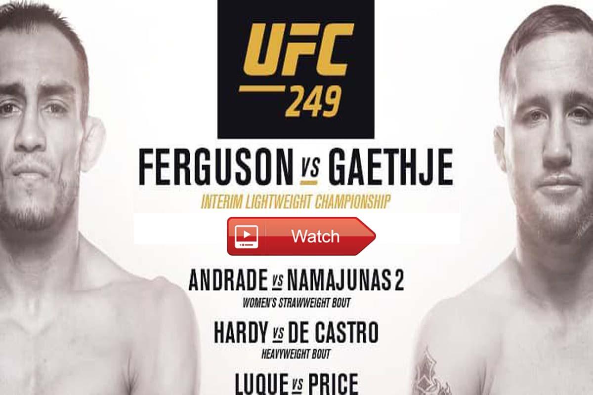 UFC 249 Live Stream Reddit