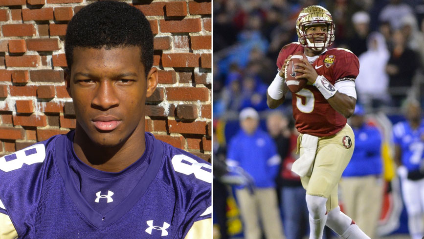 Jameis Winston is one of more than 20 former American Family Insurance ALL-USA selections who could be drafted. / USA TODAY Sports