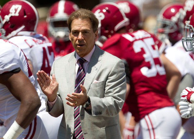 Nick Saban is again looking at signing the nation's top recruiting class (Photo: Marvin Gentry, USA TODAY Sports)