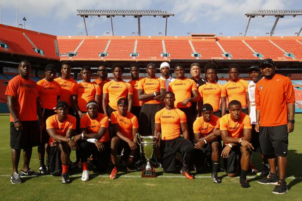 Booker T. Washington won the NFL's National 7-on-7 competition and will aim to retain the Super 25 national title in 2014